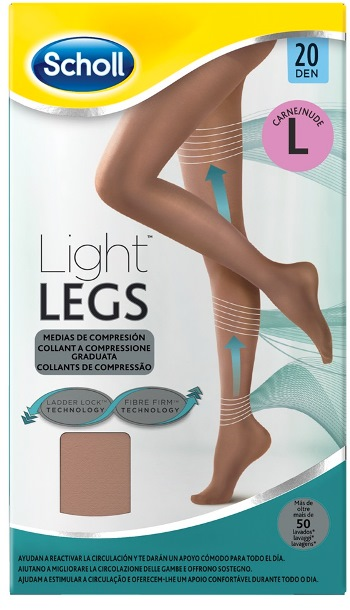 SCHOLL LIGHTLEGS20 DEN L NUDE